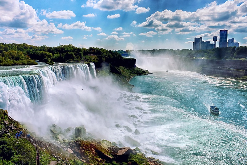Ниагарский водопад панорама 3